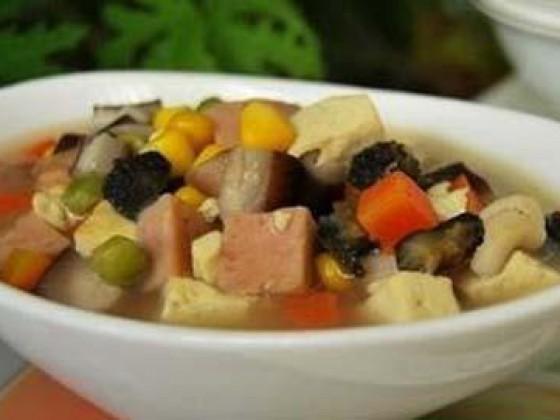 海参腐汤的做法