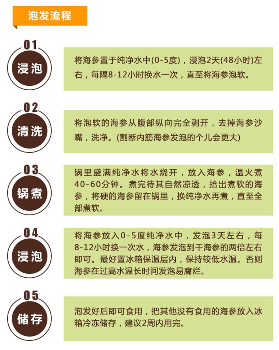 海参泡发方法和步骤